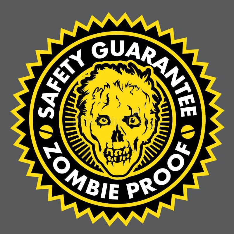 Prova do zombi, selo da garantia da segurança ilustração do vetor