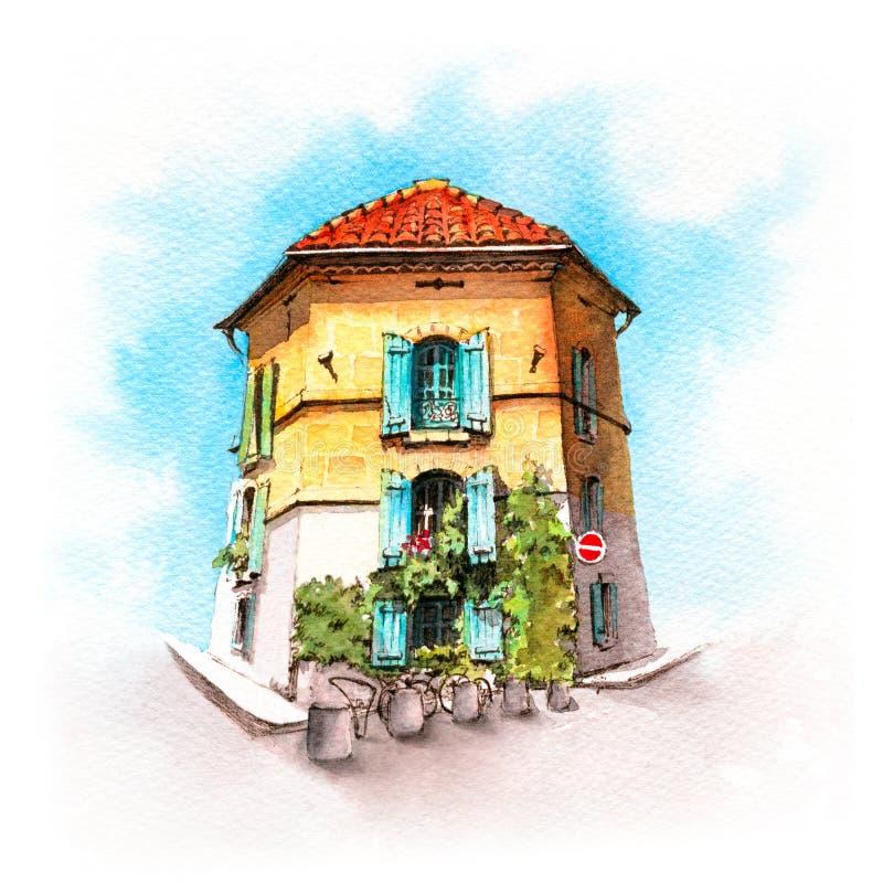 Provancal dom, Arles, Francja fotografia royalty free