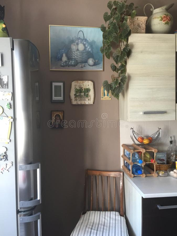 Provencal样式内部-厨房 免版税图库摄影