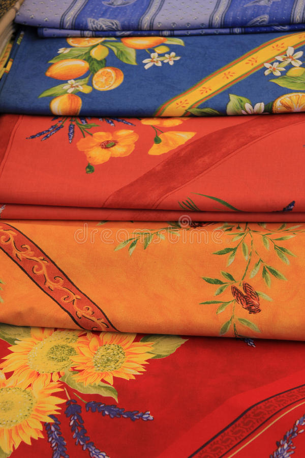 Provencal fabrics royalty free stock photos