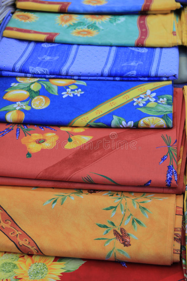 Provencal fabrics royalty free stock photography