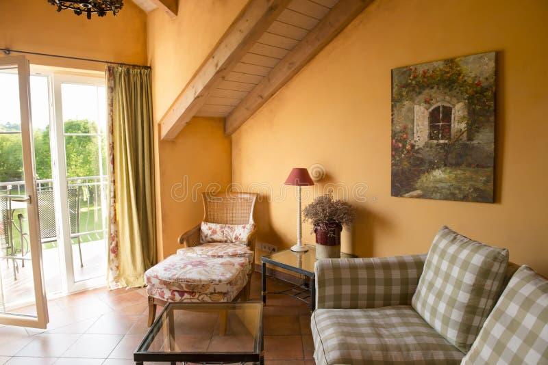 Provencal gestileerde Hotelzaal royalty-vrije stock fotografie
