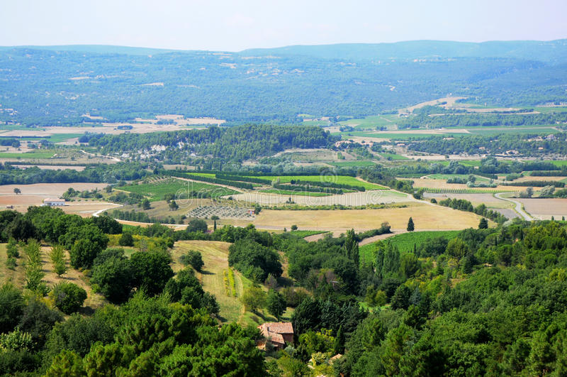 provencal landskap arkivbild
