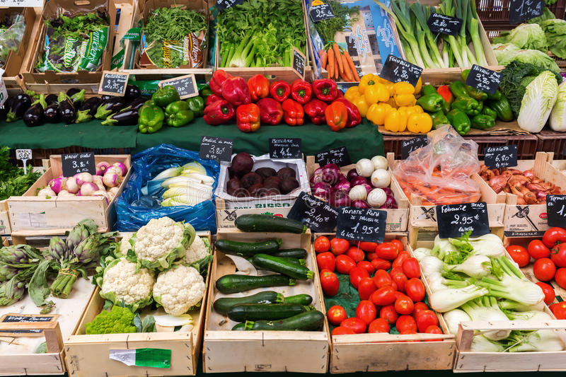 Provencal market in Cannes, French Riviera, France royalty free stock image