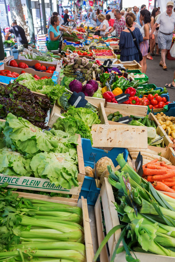 Provencal market in Cannes, French Riviera, France royalty free stock photos