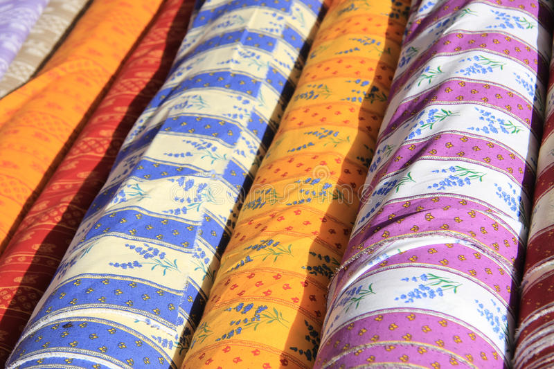 Provencal textile. In traditional ancient patterns stock photography