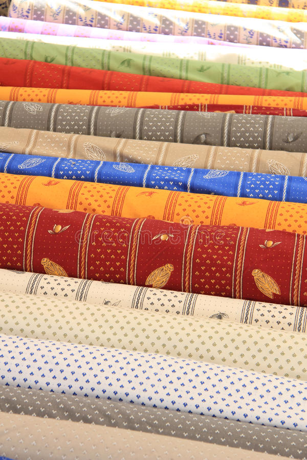 Provencal textile. In traditional ancient patterns royalty free stock image