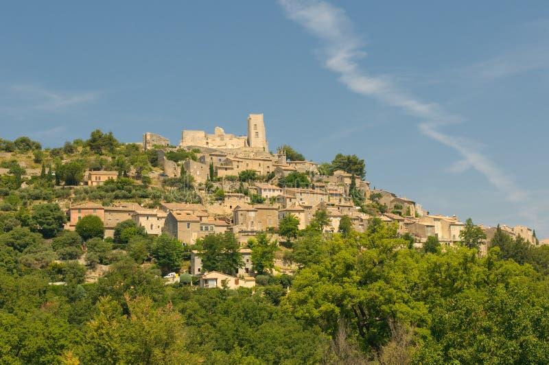 Provencal village of Lacoste stock photo