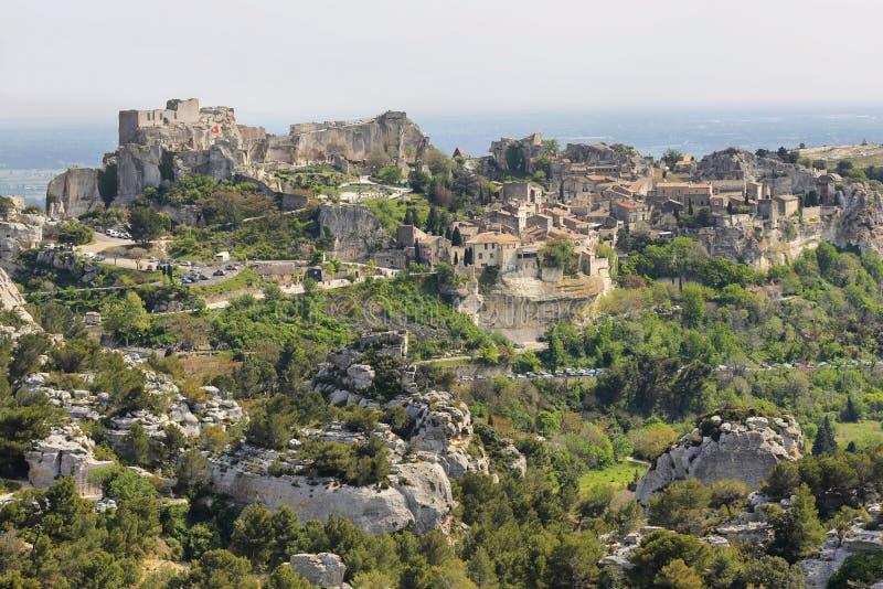 Provencal village Les Baux de Provence stock photos