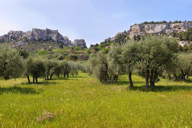 Provencal village Les Baux de Provence royalty free stock photo