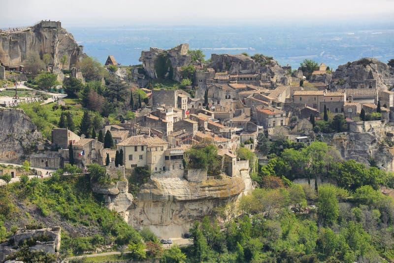 Provencal village Les Baux de Provence stock photo