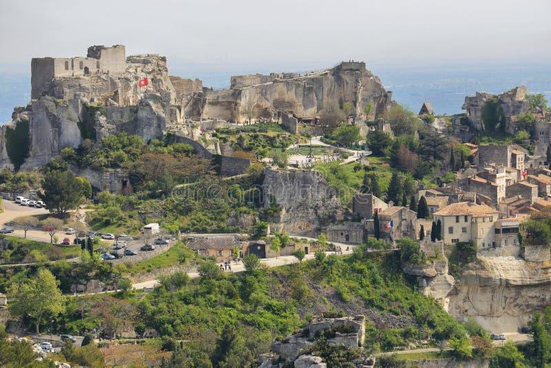Provencal village Les Baux de Provence stock image
