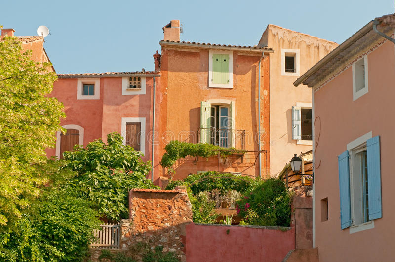 Provencal village of Roussillon. Provence, France stock images