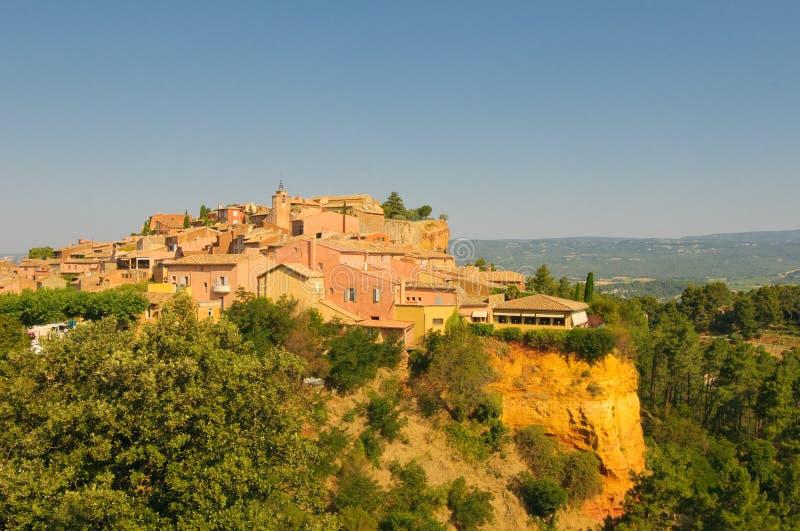 Provencal village of Roussillon royalty free stock photos