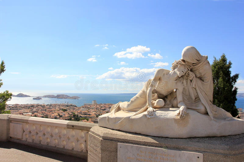 Marseille cathedral - south France royalty free stock photography
