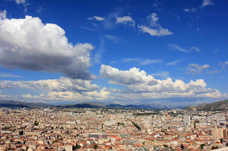 Marseille panorama - south France stock images