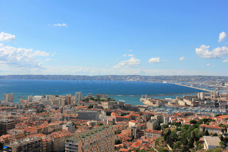 Marseille panorama - south France royalty free stock photo