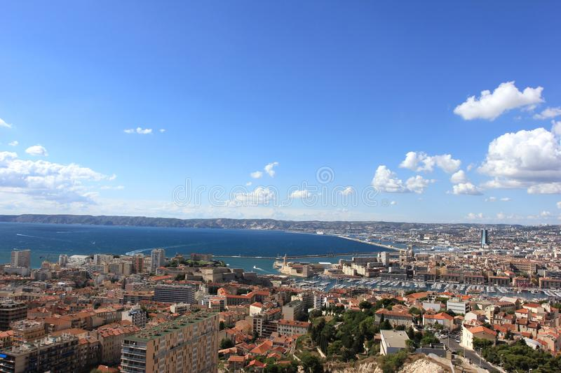Marseille panorama - south France royalty free stock photography