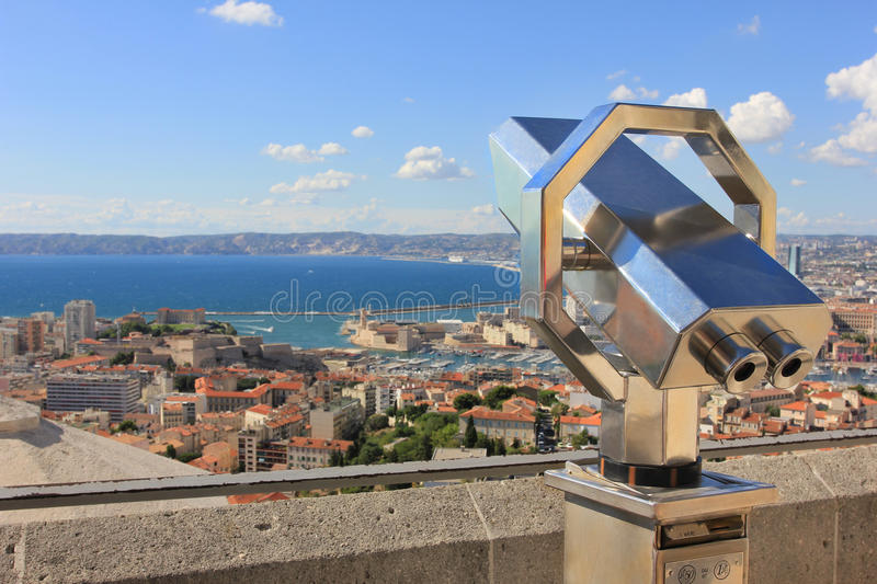 Marseille tourism with panorama - south France royalty free stock photo