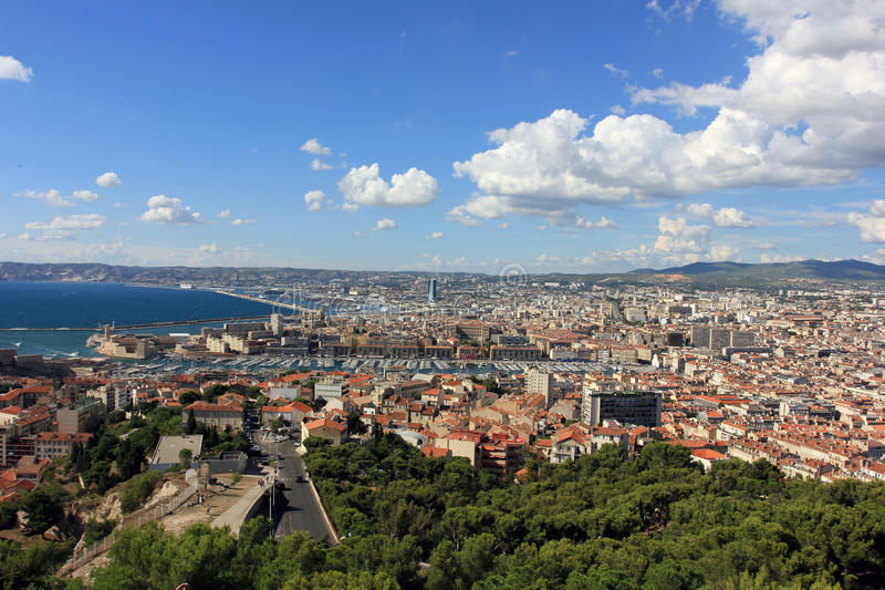 Marseille panorama - south France stock photography