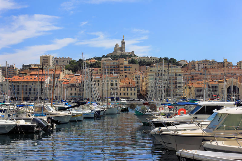 Marseille Old port - south France royalty free stock image