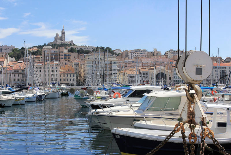 Marseille Old port - south France stock images