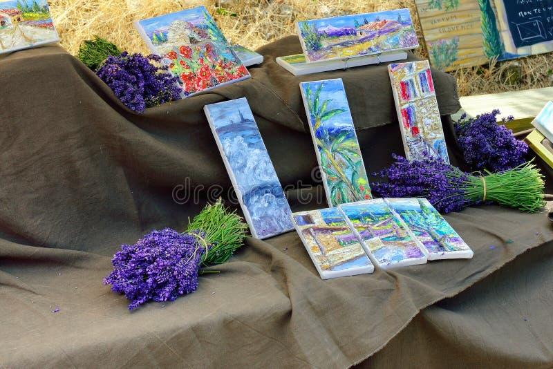 Provence Frankrike - gatamarknad royaltyfria foton