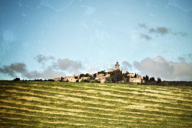 Provence lantligt landskap royaltyfri bild