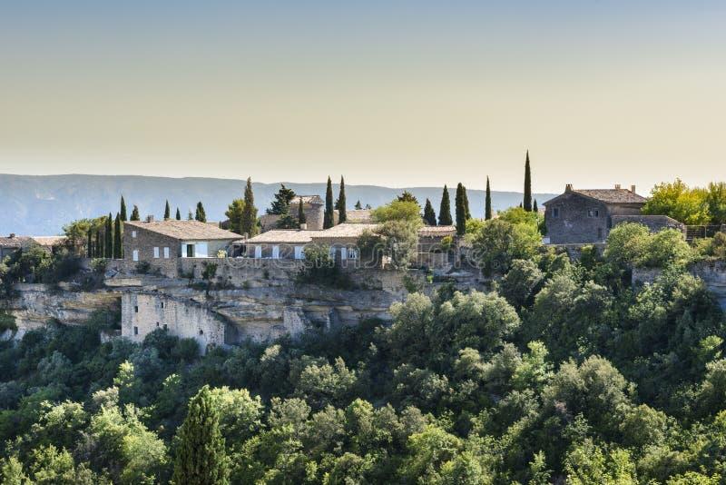 Provence lantligt landskap arkivbild