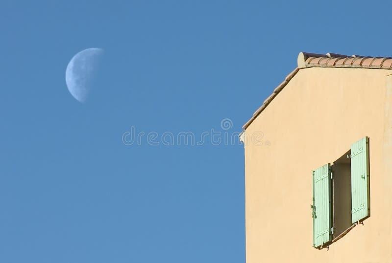 Provence moon stock image
