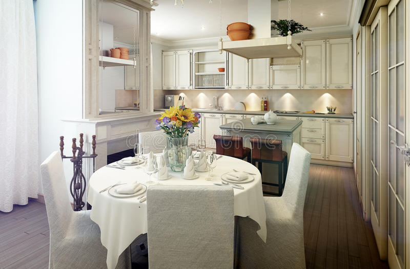 provence dining room | Provence Style Kitchen Interior, Dining Room Stock ...