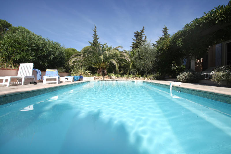 Download Provence' swimmingpool stock image. Image of branches - 16290643