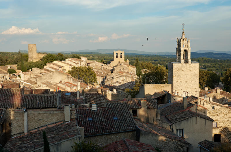 Download Provence Village Of Cucuron In France Stock Photo - Image of france, tower: 19656772