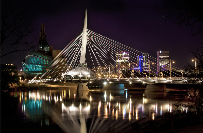Provencher Bridge Winnipeg MB royalty free stock photos
