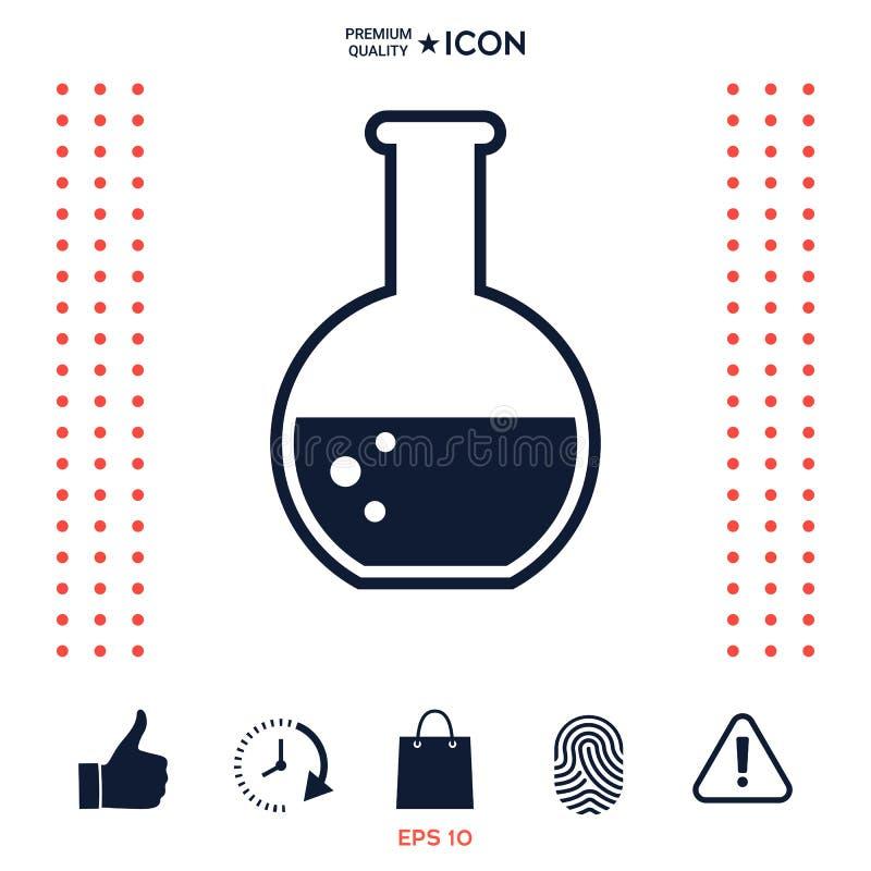 Download In Provetta Con L'icona Di Simbolo Delle Bolle Illustrazione Vettoriale - Illustrazione di vetro, farmacia: 117977384