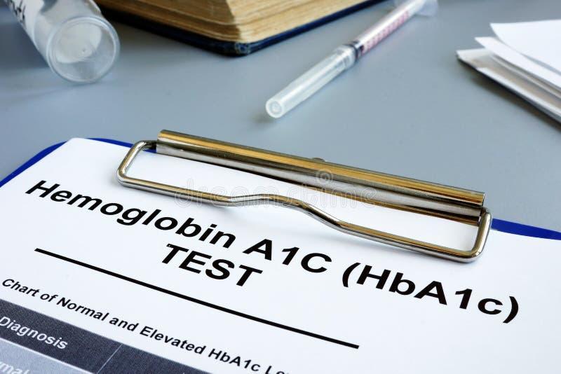 Provform för Hemoglobin A1C HbA1c fotografering för bildbyråer