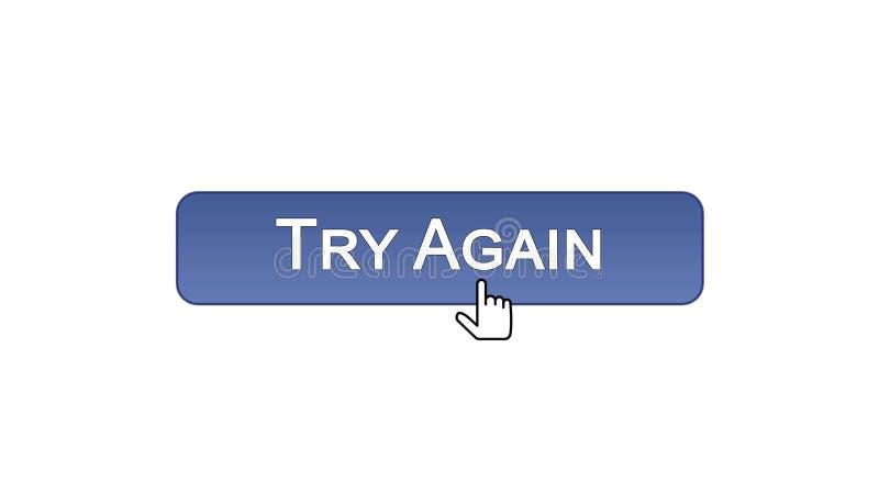 Provi ancora il bottone dell'interfaccia di web cliccato con il cursore del topo, il colore viola, supporto illustrazione vettoriale