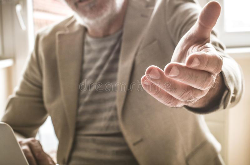 Always provide a helping hand. royalty free stock images