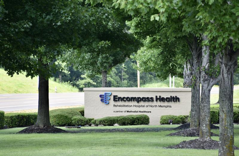 Encompass Health and Rehabilitation Center, Memphis, TN. We provide high–quality and connected, inpatient rehabilitation, home health and hospice care stock photo
