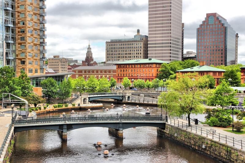 Providence. Rhode Island. City view in New England region of the United States stock photography