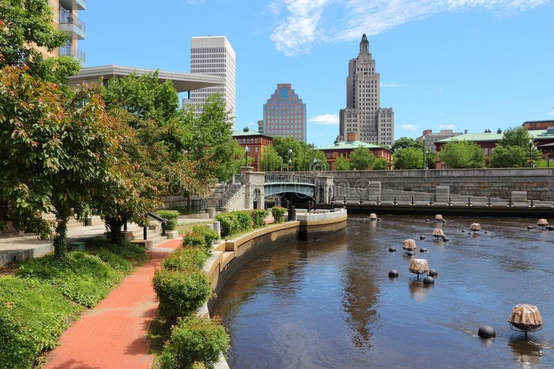 Providence city, RI. Skyline of Providence city, Rhode Island. Cityscape in New England region of the United States royalty free stock image