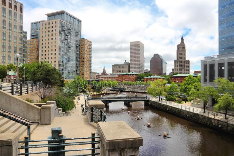 Providence city. Skyline of Providence city, Rhode Island. Cityscape in New England region of the United States stock photography