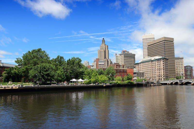 Providence city skyline. Skyline of Providence city, Rhode Island. Cityscape in New England region of the United States royalty free stock image
