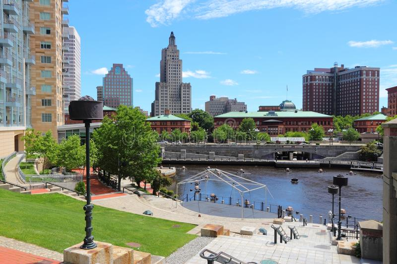 Providence. Rhode Island. City skyline in New England region of the United States stock photos