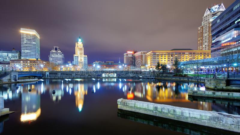 Providence, Rhode Island Skyline images libres de droits