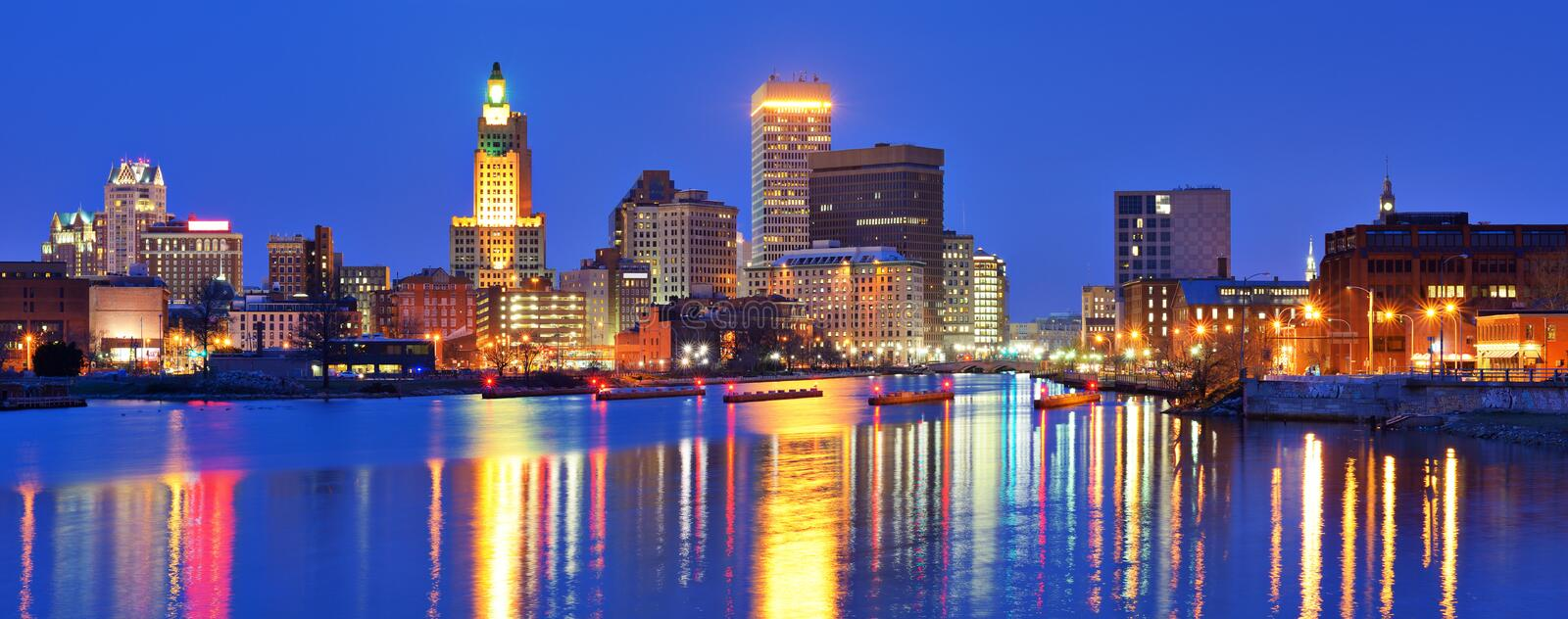 Providence, Rhode Island Skyline photo libre de droits