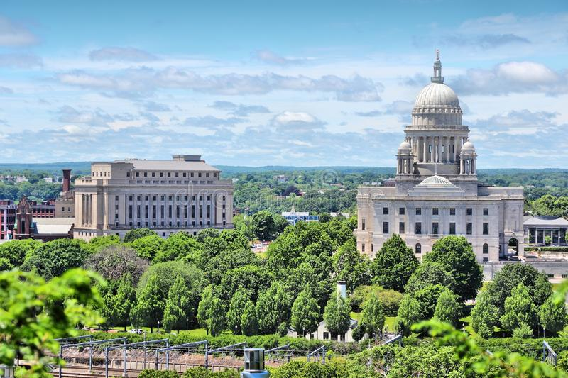 Providence, RI. Providence, Rhode Island. City in New England region of the United States. State capitol building royalty free stock image