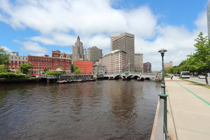 Providence skyline. Skyline of Providence city, Rhode Island. Cityscape in New England region of the United States royalty free stock images