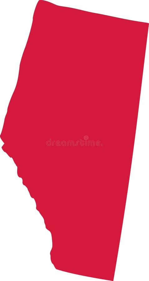 Province d'Alberta de Canada illustration de vecteur