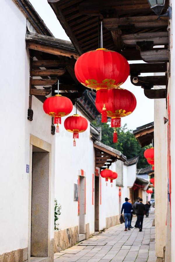 Province de Fuzhou, Fujian, Chine 6 MARS 2019 : le secteur historique et culturel célèbre à Fuzhou photos stock